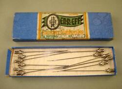 Rare Antique Set Of 12 Pieces Medical Germany Hypodermic Needles In Box