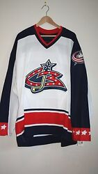 Columbus Blue Jackets Team Issued Nhl Home Jersey Blank - Rare - Perfect Gift