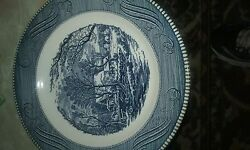 Currier And Ives 12 Pc Set Bowls, Saucers, And Dinner Plates