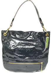 NWT orYANY Lucy Croco Patent Leather Hobo Black Color MSRP: $375.00 $24.99