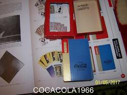 Rare Blue 1930and039s Coke Playing Coca Cola Cards Set Complete Wheat Deck Ltd Bottle