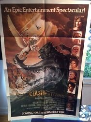 Clash Of The Titans - Advance One-sheet Movie Poster Signed By Ray Harryhausen