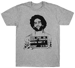 HUEY P NEWTON MUGSHOT T SHIRT POLITICAL ACTIVIST 1960'S BLACK PANTHER PARTY