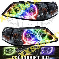 Oracle Halo Headlights Non Hid Lincoln Town Car 05-08 Colorshift 2.0 W/ Remote