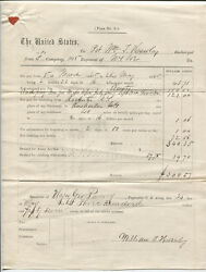 Civil War Documents 148th N.y. Discharge Papers And Pay Voucher 1865.