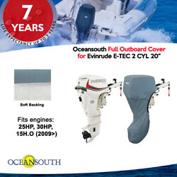 Oceansouth Outboard Storage Full Cover For Evinrude E-tec 2cyl 20 Leg