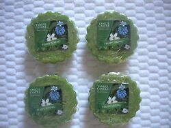 4 Wrapped Yankee Candle Wax Tarts for melting HAPPY SPRING