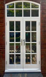 Hardwood Georgian French Doors With Arched Top Light Glazed Made To Measure
