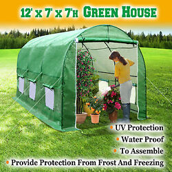 New 12and039x7and039x7.2and039 Large Hot Green House Walk-in Greenhouse Plant Gardening Outdoor