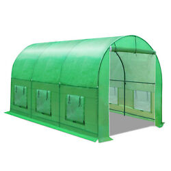 New 12'x7'x7.2' Large Hot Green House Walk-in Greenhouse Plant Gardening Outdoor