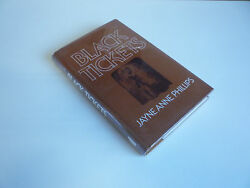 Jayne Anne Phillips Black Tickets 1st Uk Edition Signed Rare First Printing