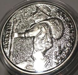 Hobo Nickels The Trail Low COA Collectible Coin 1 Troy Oz .999 Fine Silver Round