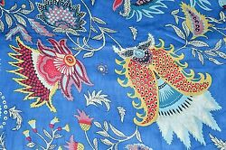 Indian Cotton Fabric Hand Block Print Craft Dressmaking Material By The 5 Yard