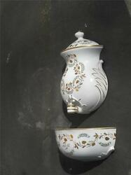 Lavabo Porcelain French Style Hand Panted Gold Garland Flowers Lenwile Ardalt