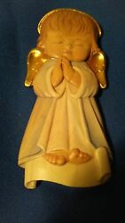 New Light-blue Angel On The Cloud, 10206-hb, Wood Figurine From Lepi, Italy