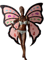 Da NeeNa C701 Butterfly Wings Crystal Pageant Angel Wings Costume set XS - XL