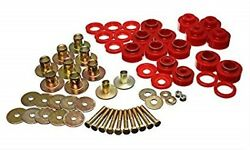 Energy Suspension 3.4170r Red Body Mount Bushings For 1968-1972 Chevy Chevelle