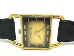 JAEGER LE-COULTRE ETRIER Vintage Mechanical Y. Gold 18k. XL Size Men Watch 70's
