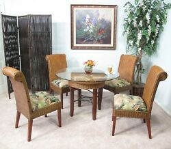Rattan And Wicker 5 Piece Dining Furniture Set Choice Of Fabrics