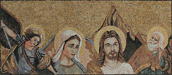 Jesus And Mary Icons Saints Religious Figure Marble Mosaic Fg373