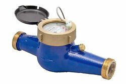 New Prm 1-1/4 Npt Multi-jet Cold Water Meter With Pulse Output