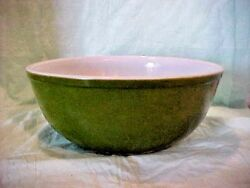 Pyrex Mixing Bowl 4 Quart Green Good Pre-owned Condition 404 Oven Ware U.s.a .