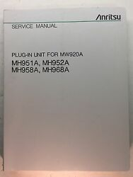 Anritsu Mw920a Service Manual For Plug-in Units Mh951a Mh952a Mh958a Mh968a