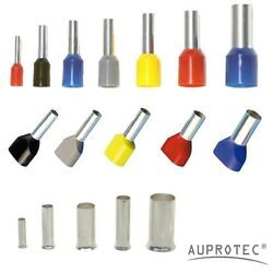 Auprotec Bootlace Ferrules 0.34 - 50mm² Cable Cord End Terminals Single/twin Set