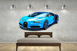 Bugatti Chiron Hyper Super Cars Decal Childrens Wall Stickers Bedrooms 4 Sizes