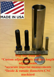 Extended 1 To 1 1/ 8 Inch 1/4 Key Gas Engine Pulley Crank Shaft Sleeve Adapter