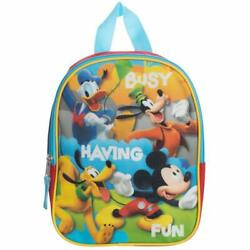 Disney Mickey Mouse Club House Boys Kids Toddler Backpack Preschool Book bag TOY $11.99