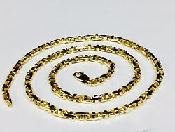 10k Solid Yellow Gold Anchor Mariner Bullet Link Chain Necklace 4mm 38 Grams 22