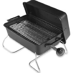 Portable Gas Grill Stainless Steel Propane Barbeque Folding Legs Table Top Grill