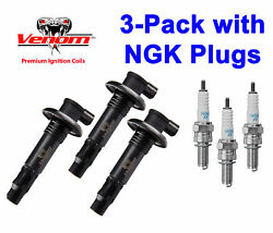 3-pack Seadoo 4-tec Ignition Coil And Ngk Plugs Gti Gts Se Limited Rental 130 155