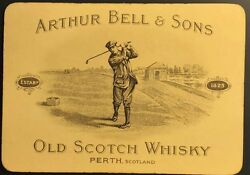 Scottish Advertisement Authentic Antique Whisky / Golf Playing Cards Single +coa