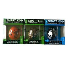 Set Of 3 Scorpion Dino And Skull Smart Egg Labyrinth Puzzle Brain Teaser Ages 8+