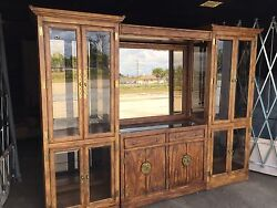 Genuine J. B. Van Sciver Wall Unit And Matching Buffet