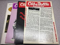Lot Of 4 Issues Antique Bottle And Glass Collector Magazine 1982 1989