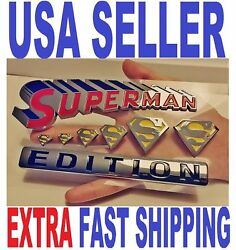 Superman Edition Quality Emblem Plaque Hero Old Logo Badge Letters Fit All Cars