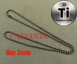Titanium Military Army Ball Bead Chain Necklace Anti-allergy 23.6 Inch Ti030