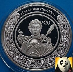 1997 Liberia 20 Dollars Worlds Conqueror Alexander The Great Silver Proof Coin