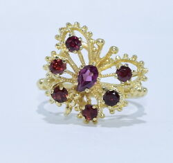 14k Yellow Gold Butterfly Ruby Womens Ring