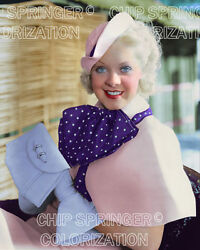 ALICE FAYE and Polka Dot Bow Tie  Beautiful 8x10 COLOR Photo by CHIP SPRINGER