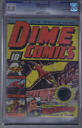 Dime Comics 3 Bell Features Pub. Cgc 3.0 G/vg Canadian Edition ,johnny Canuck