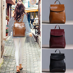 Convertible Small Real Leather Backpack Crossbody Shoulder Bag Purse 2 Sizes