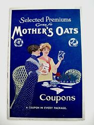Vintage 1900's Premiums Given For Mother's Oats Coupons Booklet Quaker Oats
