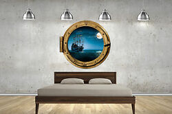 Pirate Ship Porthole Childrens Wall Stickers Transfer Decal Kid Bedroom Bathroom