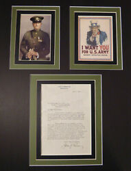 General John J Pershing Autograph T.l.s Signed On His Personal Letterhead W/coa