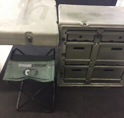 Hardigg Military Field Desk Table Case With Drawers And Chair 472-fld-desk-ta-137