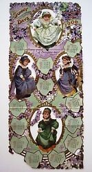 1906 Victorian Calendar By Raphael Tuck And Sons W/ 4 Adorable Little Girls